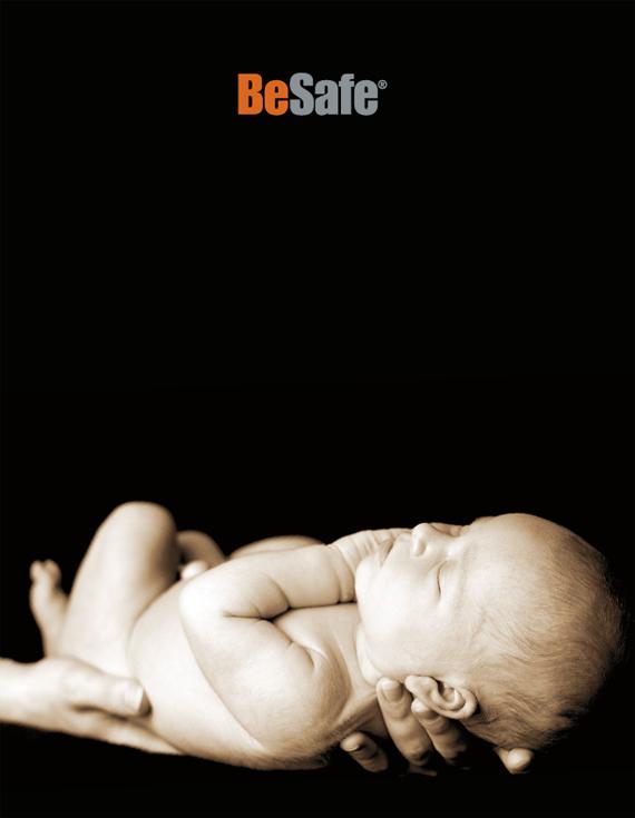 Omslag för BeSafe katalog 2010, bild 1/4.