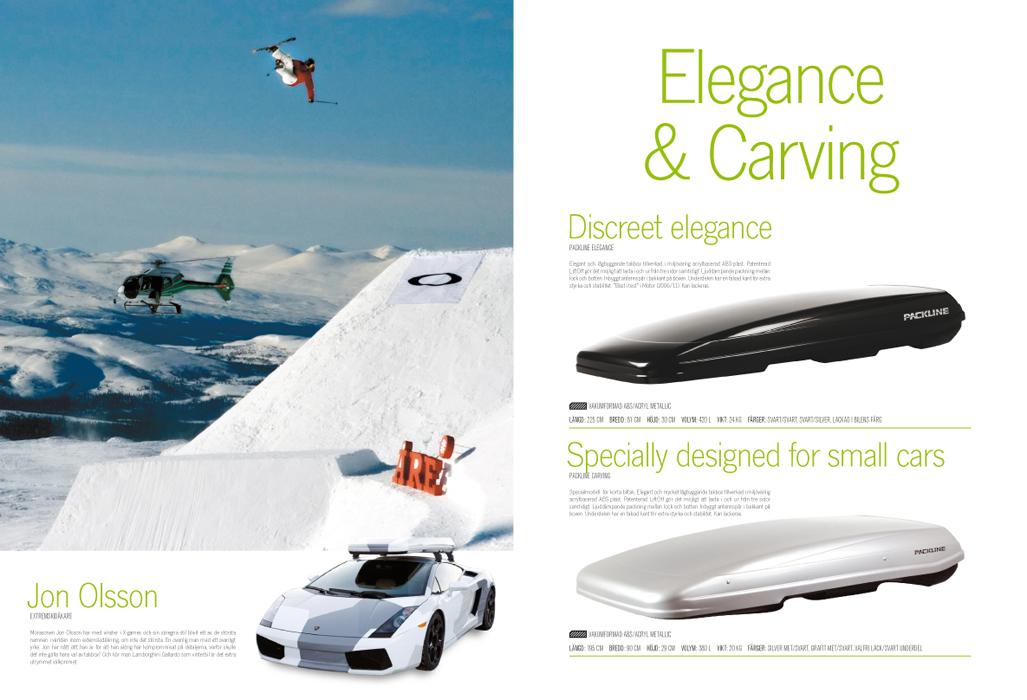 Image och produkter samsas i Packlines katalog 2010, bild 3/3.